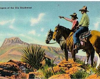 Vintage Texas Postcard - Texas Rangers of the Old Southwest (Unused)