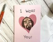 Funny Quirky Geek Valentines Card - Original Illustration - Star Trek