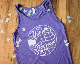 This Way to the Disney Magic - Unisex Tank - Give Kids the World Fundraiser