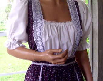 Gunne Sax Dress Calico and Lace in the Boho Style Rare Size 13