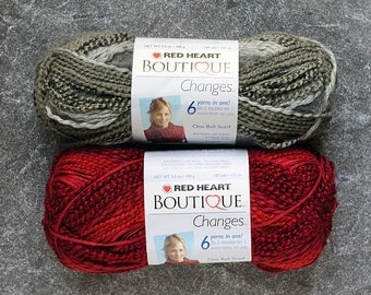 Yarn Destash, Yarn Sale, Chunky Yarn, Art Yarn, Bulky Yarn, Yarn for Sale, Yarn Lot, Sale Yarn, Destash Yarn Red Heart Boutique Changes Yarn