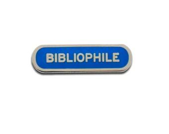 BIBLIOPHILE enamel pin