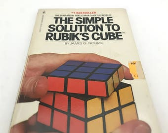 1980s Rubiks Cube Solution Book - Rubik's Cube Solver Book - 80's Puzzles and Games - Fathers Day Gift, Pop Culture, I Love The 80s