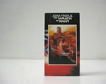 Star Trek VHS, Wrath of Khan, William Shatner, Captain Kirk, Spock, Star Trek Movie, 80s Sci Fi Movie, Christmas Gift for Dad, Trekkie Gift
