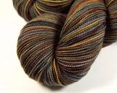 Hand Dyed Sock Yarn - Sock Weight Superwash Merino Wool Yarn - Agate - Knitting Yarn, Gray Grey Brown Fingering Yarn, Earthtones, DIY Gift