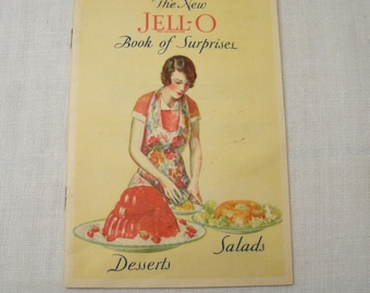 Vintage 1930s Jell-o Recipe Booklet - Book of Surprises Cookbook