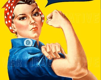 Rosie the Riveter - CUSTOMIZE IT! Poster Print