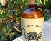 Vintage Great Smoky Mountains Whisky Jug
