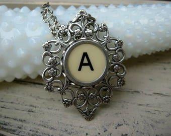 Typewriter Key Jewelry Letter A