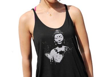 Siddhārtha Gautama Buddha| Women's Flowy tanktop| Art by MATLEY| Relax fit| Gift for her| Ohm| Yoga| Small-XXL| Summer top| oversized.