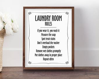 Cute Laundry Signs Endearing Laundry Printable  Etsy Design Inspiration