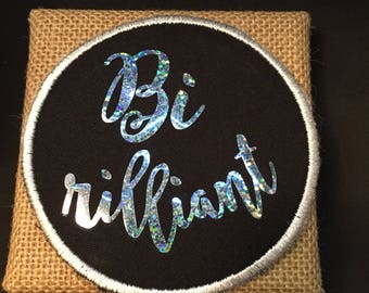 Bi-Rilliant Patch Sew On Holographic Pride Patch