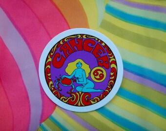 Cancer Sticker... 3 Inch Thick Vinyl Sticker... Zodiac Sticker