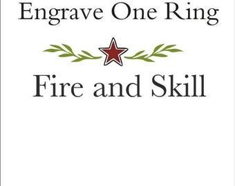 Ring Engraving - Inside of Ring