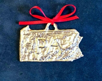 Pewter Pennsylvania Ornament (PA)