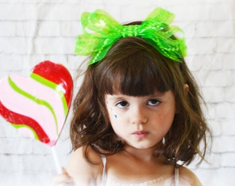 Poppy bow headband