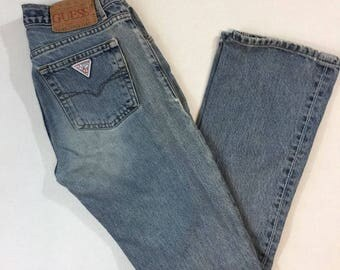 Vintage Guess Jeans Washed 90s Distressed Jeans