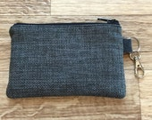 NEW Coin Pouch - Woven Charcoal