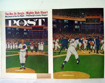 Saturday Evening Post Cover American Game of Baseball April 28th, 1962