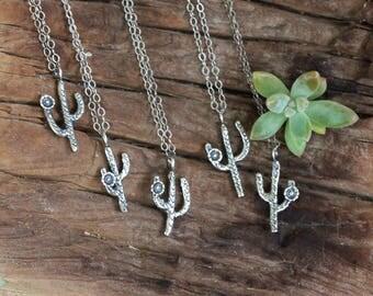 Southwestern Cactus Necklace, Cactus Jewelry,