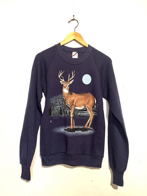 Deer Forest Scene Sweatshirt