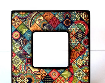 Spice market Photo Frame, Picture Frames, Bohemian, boho, Handmade, Instagram frame, Unique Picture Frames, Wood Frame, Rustic, Under 20