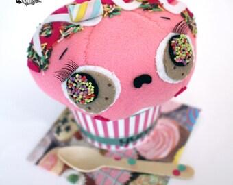 Ice cream cup little plush anthropomorphic food cute kawaii dessert ornament