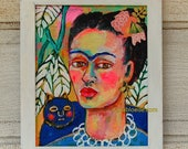 Frida and her cat **** frame included