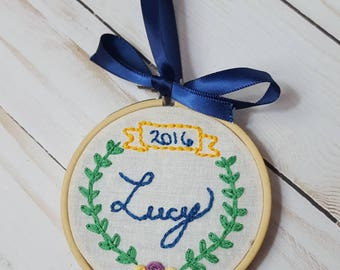 Personalized Memorial Embroidery Hoop, Pregnancy Loss, Infant Loss, Miscarriage Christmas Gift, Miscarriage Remembrance, Thoughtful Ornament