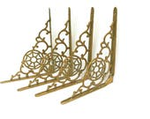 Vintage Wall Brackets  /  Brass Shelf Supports  /  Architectural Salvage  /  She Shed Decor  /  Restoration or Repurpose