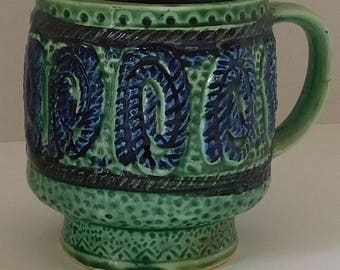 Blue and Green mug made in Japan