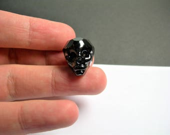 Crystal faceted skull - 1  pcs - 20mm - Mystic Black - SFB5
