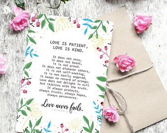 Love is Patient, Love is Kind - 5x7 Greeting Card