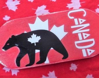 CANADA MAGNET, Canadian Magnet, Wood Magnet, Maple Leaf Magnet, Canada Flag Magnet, Canada Maple Leaf Magnet, Bear Magnet, Canadian Wildlife