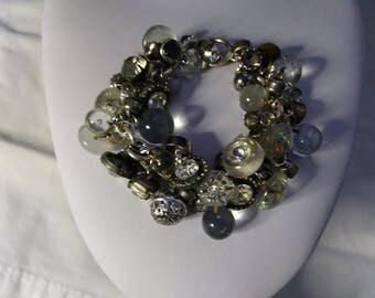 Button Bracelet With Vintage and Antique Buttons