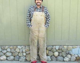 Vintage Carhart Insulated Carpenter Bib Overalls, Workman's Overalls  - Men's 36/34