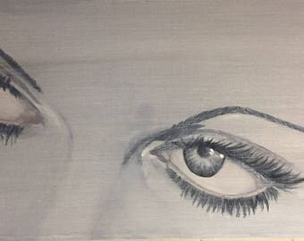 """Hide Me In Your Dreaming - Original Acrylic Painting on stretched canvas 10""""x20"""""""