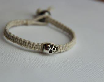 Skull Hemp Bracelet