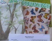 Butterfly Wallhanging KIT, 3D butterflies, make your own, Quiltsy Destash