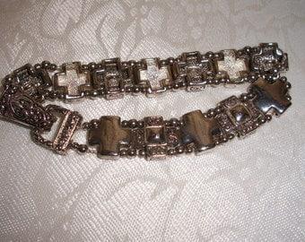 Vintage Cross Bracelet, Silver Slide Bracelet, by Nanas Vintage Shop on Etsy