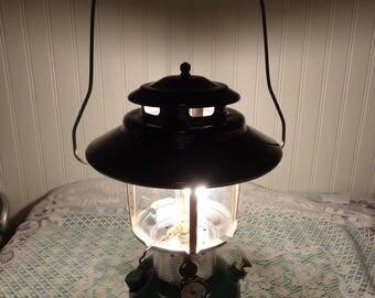 Vintage Green Coleman Floodlight Lantern  -  Model 228F195  -  15-354