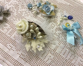 4 Hair Clips Handmade for Gifts, Flower Girls, or For You 4 Included