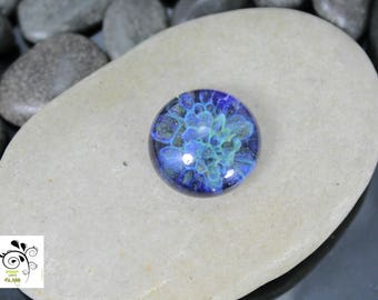 Starry Night - Lampwork Glass Cabochon - 16mm - Jewelry Making Supply