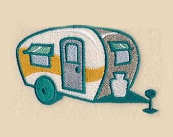 Retro Camper Tea Towel | Personalized Kitchen Towel | Embroidered Tea Towel | Dish Towel | Embroidered Towel | Birthday Gift