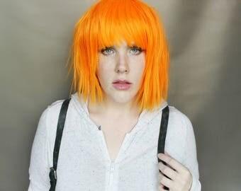 SALE Orange wig | Short Orange wig, Cosplay wig, Halloween wig | Scene Emo wig | Pure Starfire