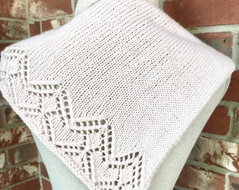 PATTERN Chevron Lace Shawl Scarf Knitting Triangle Scarf DIY Gift Christmas