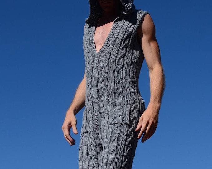 Knit Onesie Slate Gray 100% Italian Merino
