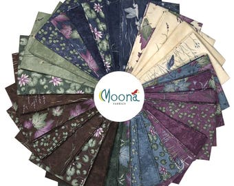 Moda SUMMER IN the POND, Holly Taylor, 30 Fat Quarters Fabric Bundle, Purple Fabric, Purple Fat Quarter Bundle, Quilt Fabric, Cotton Fabric