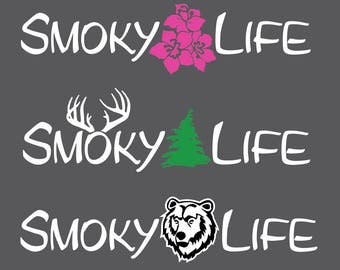 Smoky Life decal / Great Smoky Mountains National Park sticker
