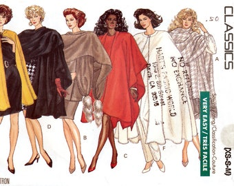 Butterick 6854 Sewing Pattern for Misses' Cape and Stole - Uncut - Size XS, S, M